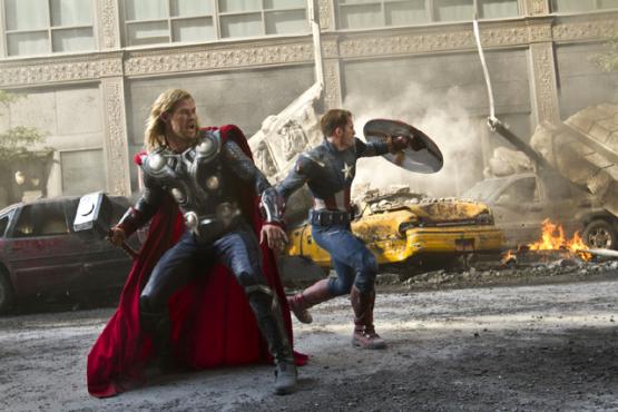 Chris Hemsworth és Chris Evans - Thor és Amerika Kapitány