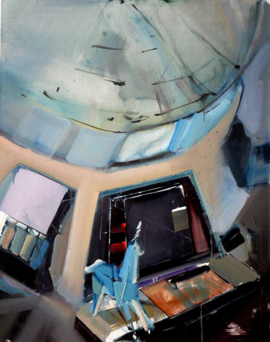Debreczeni Imre: Replikáns; 2012, 100x80 cm, olaj, vászon.
