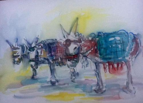 Miriam Hathout: Donkeys