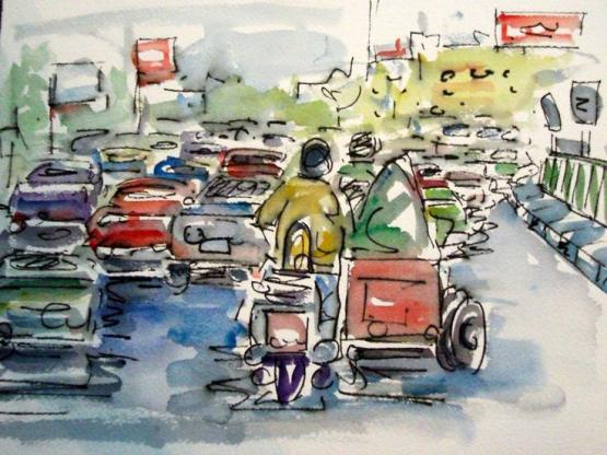 Miriam Hathout: Cairo Traffic