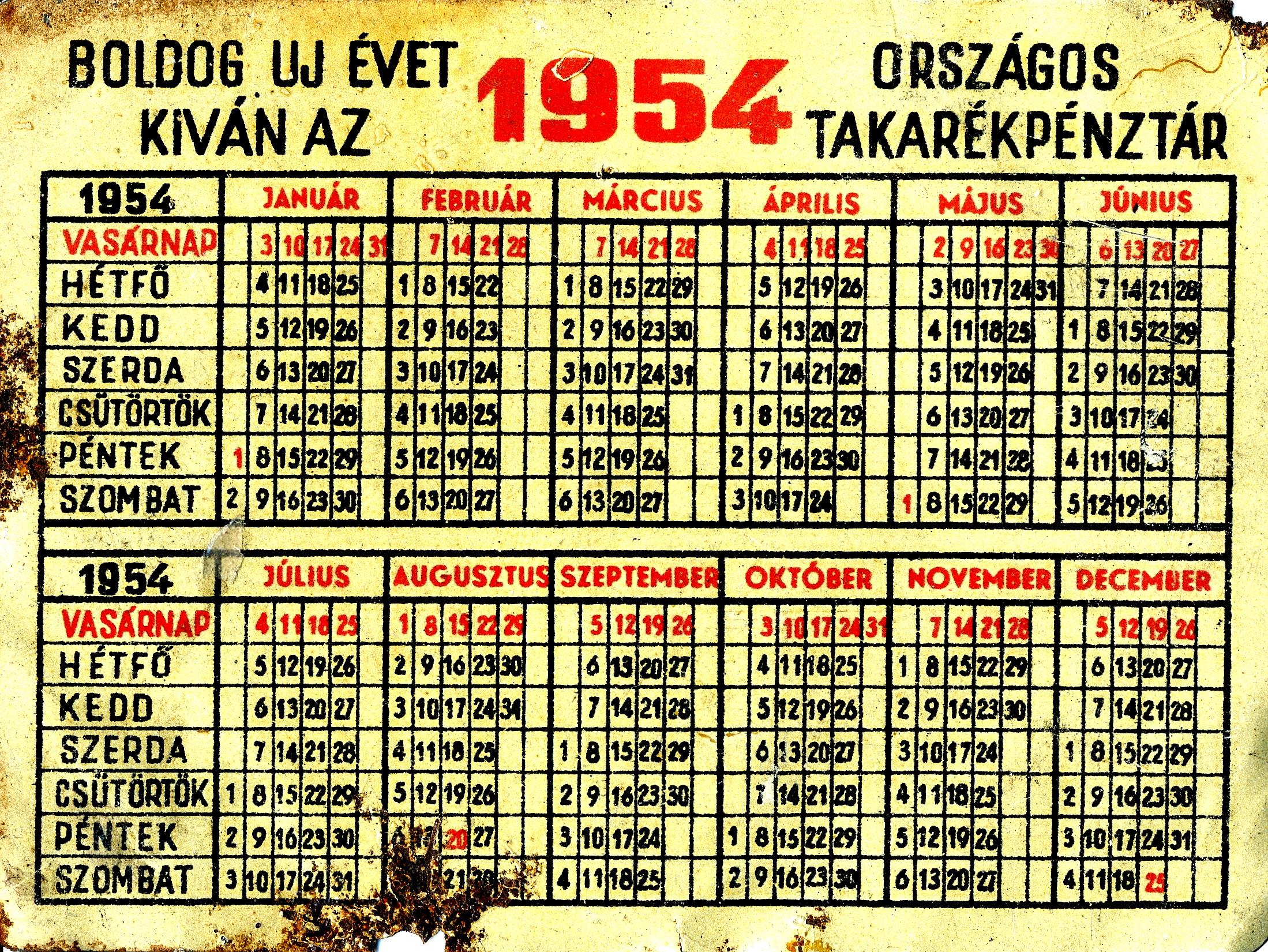 1965 évi naptár Jugoplasztika '54    Láncoskutya szabadon /